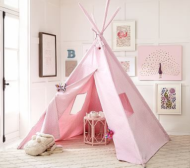 Pink Mini Dot Teepee #pbkids