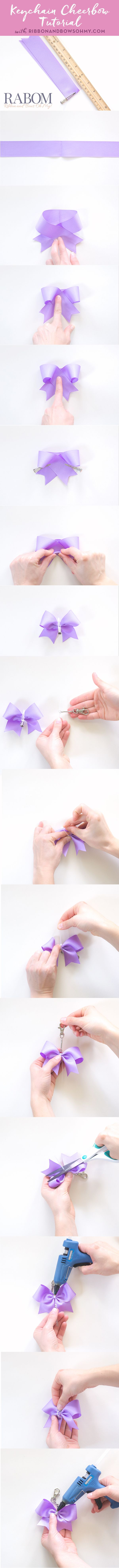 Keychain Cheerbow Tutorial  | www.ribbonandbowsohmy.com