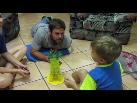 family fun games night (MONKEY TREE FUN) with Laughter & funny Fighting