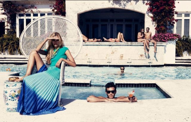 Poolside glamour