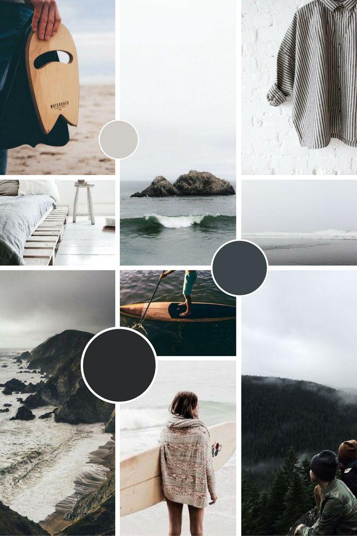 Minimal, hipster-style brand moodboard for Jen Larkin | byRosanna