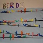 Mural de primavera: BIRDS