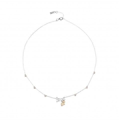 LADY LOVE Short necklace with AGATHA Paris Lady Scottie dog and flush-set stones from the AGATHA Paris Lady Scottie Collection - NZD $233