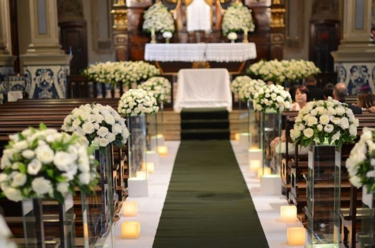10 Inspirações de decoração de igreja para casamento