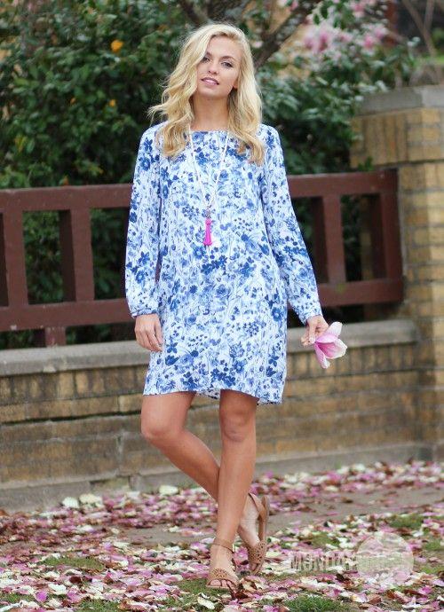 Peachtree Blues Dress   Monday Dress Boutique