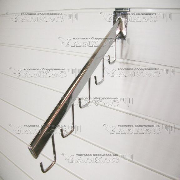 Наклонный держатель с 5ю крючками, F112c