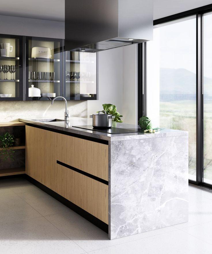 3D visualization of a kitchen made by Bruger Studio www.brugerstudio.com