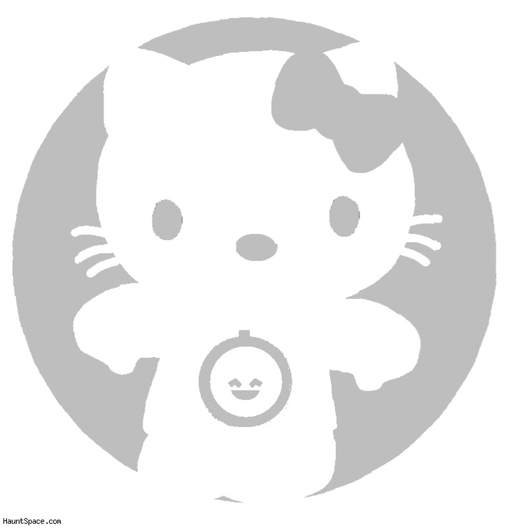 17 best images about hello kitty stencils on pinterest for Hello kitty pumpkin carving patterns