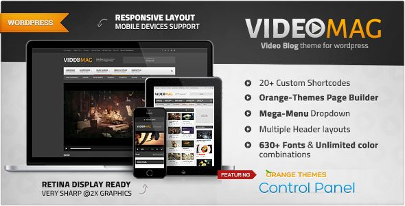VideoMag - Powerful Video WordPress Theme   http://themeforest.net/item/videomag-powerful-video-wordpress-theme/7712718?ref=damiamio                 	 VideoMag is a Powerful Responsive Video WordPress Theme designed for video magazine, video blog or video portal. VideoMag supports Vimeo, Vine, Youtube DailyMotion, Twitch and self-hosted videos. VideoMag will auto generate thumbnails for the video from pupular video site like Youtube, Vimeo etc and saves it to your server to speed up your…