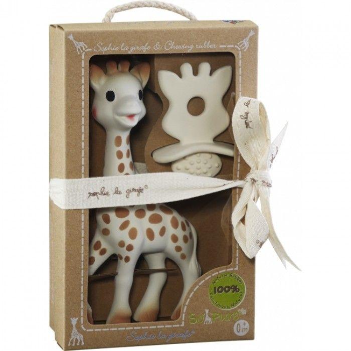Een prachtig en verantwoord kraamkado: Sophie de Giraf - So'Pure Geschenkset - 100% natuurrubber. #sophie #natuurrubber #ecomama #veiligspelen #BPA-vrij