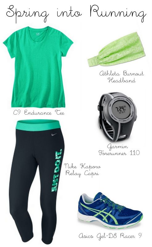 Spring Running Outfit... Because cute workout clothes motivate me :)