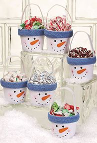 Craft ideas - Christmas Ideas - pottery, pots and terra cotta