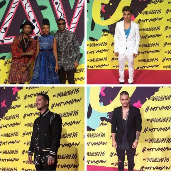 Maluma y J Balvin ganadores en los Premios MIAW 2016 del Canal MTV. - Reggaeton Colombiano