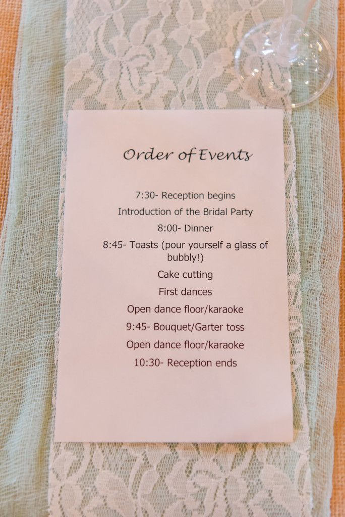 Diy Wedding Order Of Events Wedding Reception Order Of Events Wedding Reception Wedding Reception Timeline Reception Timeline Order Of Wedding Reception