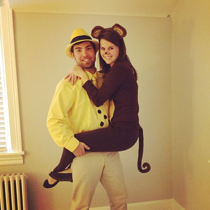 Curious George and Man with the Yellow Hat Couples Costume