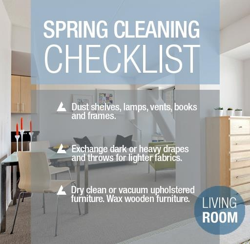 #Spring is here! Which means it's time for a little spring #cleaning. Follow these tips to #organize and #declutter your living room!