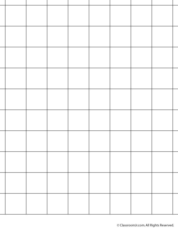 Printable Graph Paper and Grid Paper 1 Inch Grid Paper – Classroom Jr.