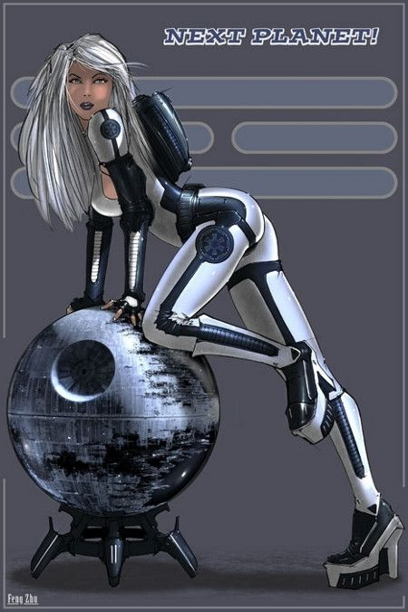 Future, Sci-Fi Girl, Futuristic Suit, Star Wars, Futuristic Clothing, Future Girl, Science Fiction, Empire pin up  May the Fourth be with you!