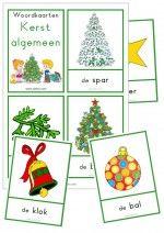 Woordkaarten Kerst Algemeen - klein + lidwoorden