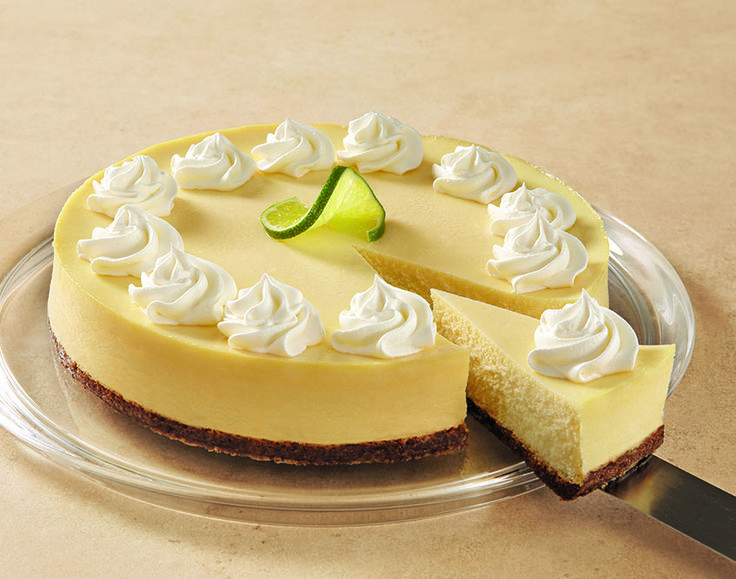 Creamy Lime Cheesecake recipe - summer dessert ideas - fruity sweet and tart cheesecake recipes - unique cheese cake flavors - how to make a cheesecake
