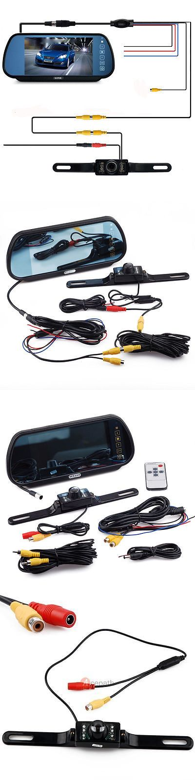 Rear View Monitors Cams and Kits: 7 Lcd Monitor Rear View Mirror Car Reverse Backup Camera Night Vision Wired Kit -> BUY IT NOW ONLY: $42.9 on eBay!