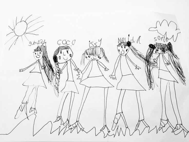 Coco's picture of the sleepover gang!