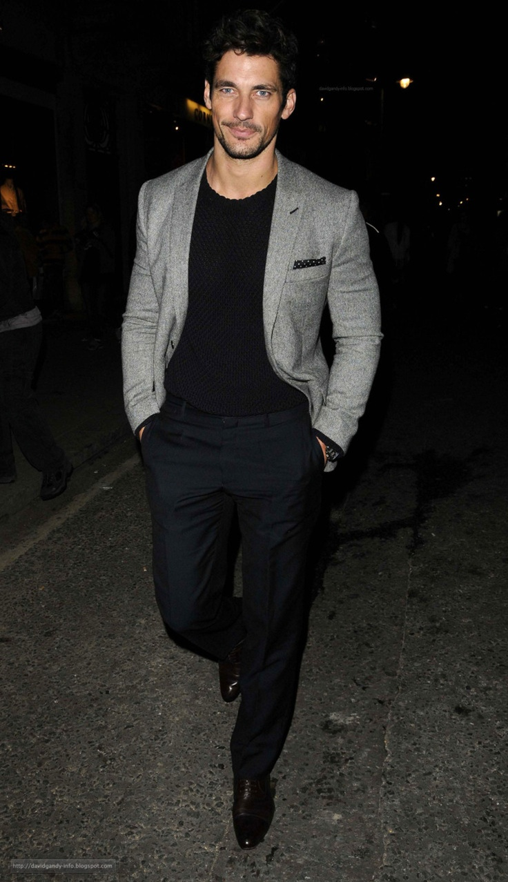 Male Supermodel David Gandy Great Look For Night Out | Style For Guys | Pinterest | Grey ...