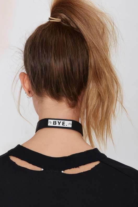 UNIF Bye Vegan Leather Choker - Accessories