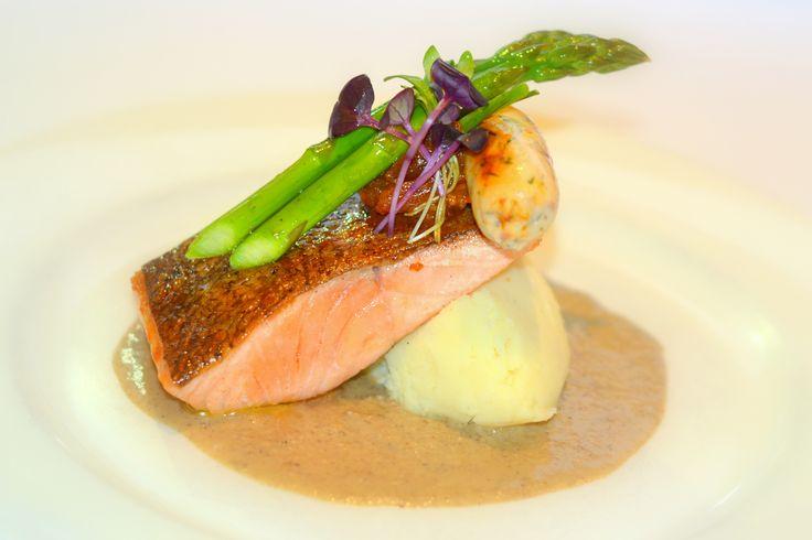 Atlantic salmon fillet with mashed potato #fedeles #fedelesrestaurant