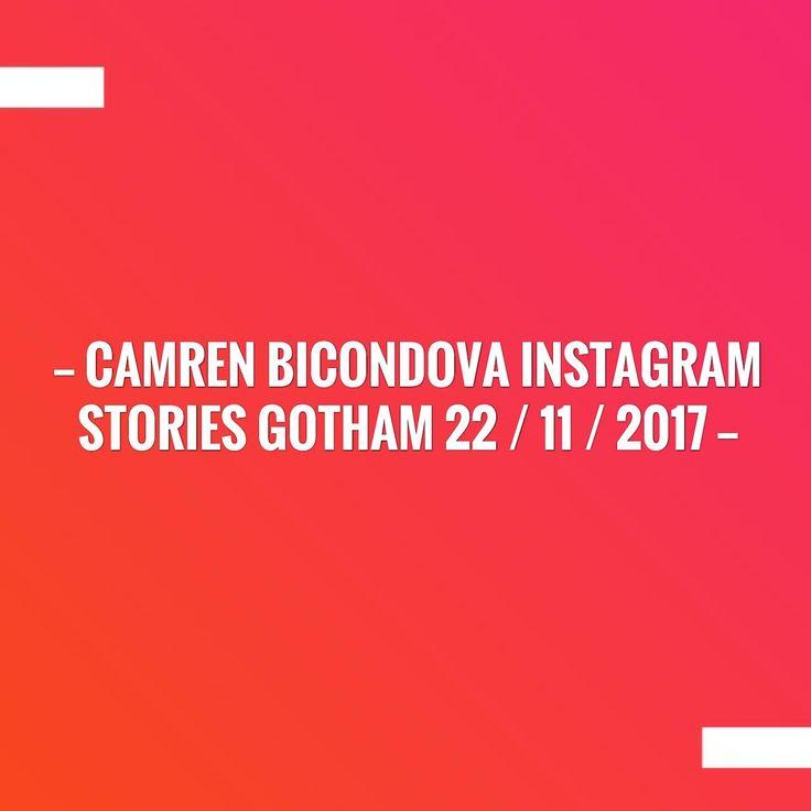 CAMREN BICONDOVA INSTAGRAM STORIES GOTHAM 22 / 11 / 2017 http://mojoali.blogspot.com/2017/11/camren-bicondova-instagram-stories_22.html?utm_campaign=crowdfire&utm_content=crowdfire&utm_medium=social&utm_source=pinterest