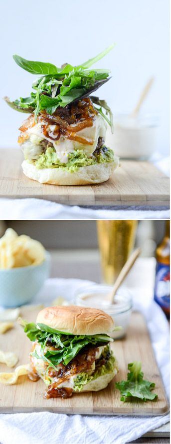 Goat Cheese Stuffed Burgers (+ a ton of others, veggie and seafood) I howsweeteats.com