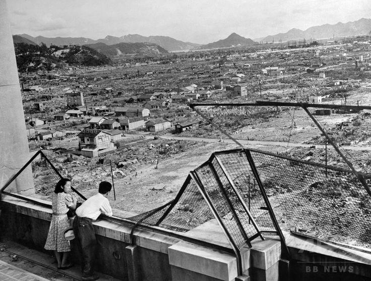 原子爆弾が投下された3年後に撮影された、被害の跡が残る広島市(1948年撮影)。(c)AFP ▼6Aug2015AFP|【特集】原爆忌、AFP収蔵写真で振り返る悲劇 http://www.afpbb.com/articles/-/3056620 #Hiroshima