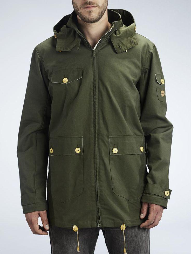 olive wax jacket by makia