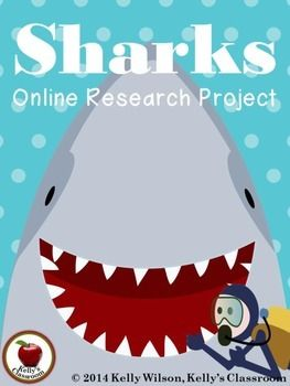 ($) This shark themed research activity can integrate well with many science units and lessons about non-fiction. This is an introductory research activity in which students practice reading for information, taking notes and summarizing.  The students will use the website of your choice to answer questions about: -the types of sharks -parts of a shark -natural habitat -diet -animal adaptations -myths about sharks #kellysclassroom