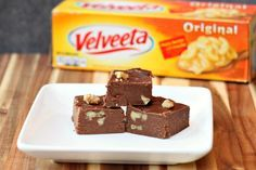 Velveeta Fudge is an easy chocolate fudge made with Velveeta Cheese. Sounds a bit crazy, yes, but it is lick your fingers delicious!