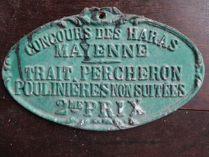 Vintage French agricultural farming beef cattle cow livestock winner green metal prize trophy plaque agriculture farm 1991 Purchase in store here http://www.europeanvintageemporium.com/product/vintage-french-agricultural-farming-beef-cattle-cow-livestock-winner-green-metal-prize-trophy-plaque-agriculture-farm-1991/