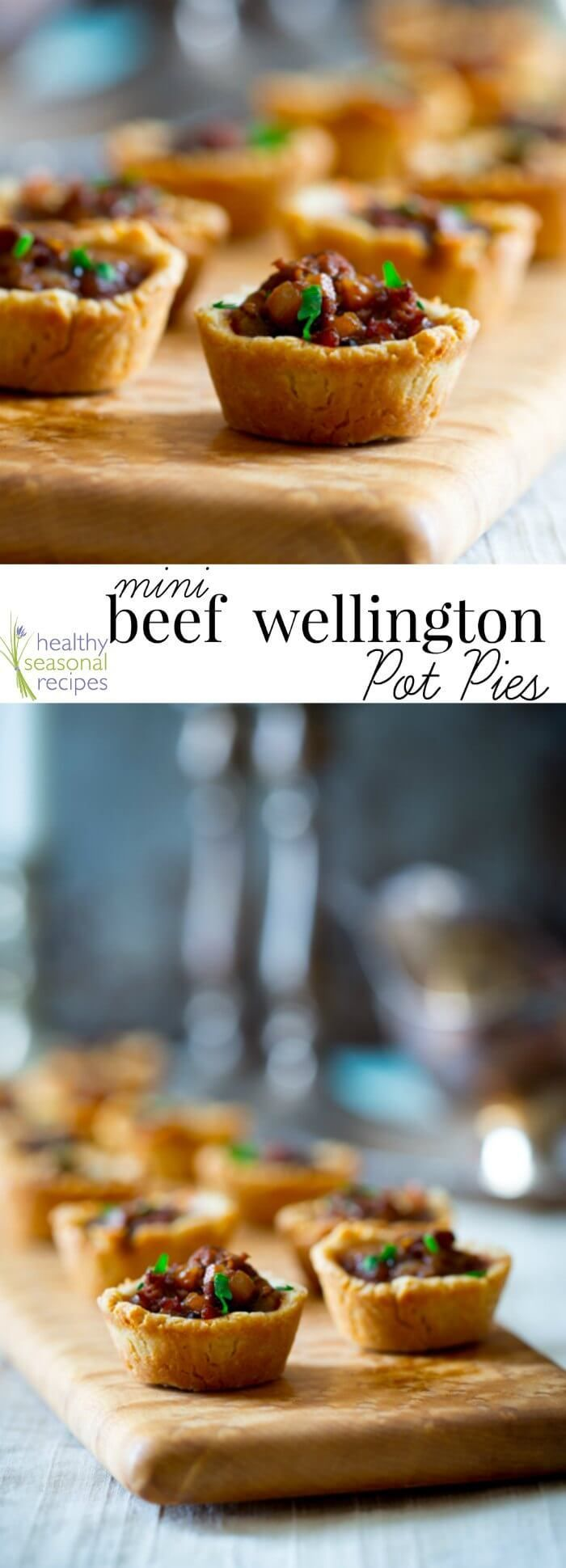 Blog post at Healthy Seasonal Recipes : Beef Wellington inspired mini pot pies with mushrooms and savory gravy in flaky home-made tartlet shells. A tasty appetizer to serve for a D[..]