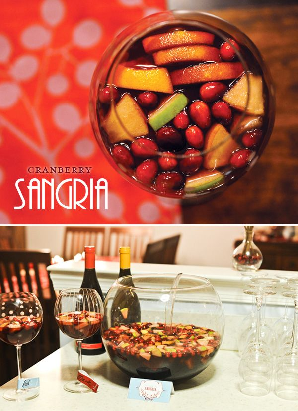 Christmas sangria..must do at moms