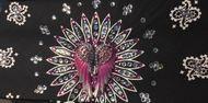 Bandana, pink angel wing rhinestone motorcycle bandana. Great as a cancer head scarf too. Go Brazen has 100's of motorcycle bandanas