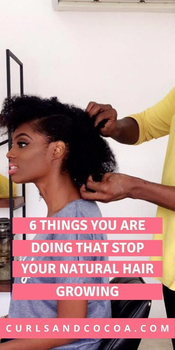 If your natura hair is not growing it could be becuase of a few things you are doing in your natural hair routine. #natu…