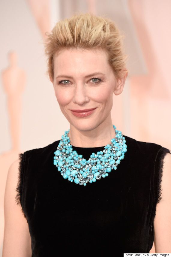 Cate Blanchett's Oscar Dress 2015 Is Even Better Because Of Her Statement Necklace #jewelexi #celebritiesjewelry