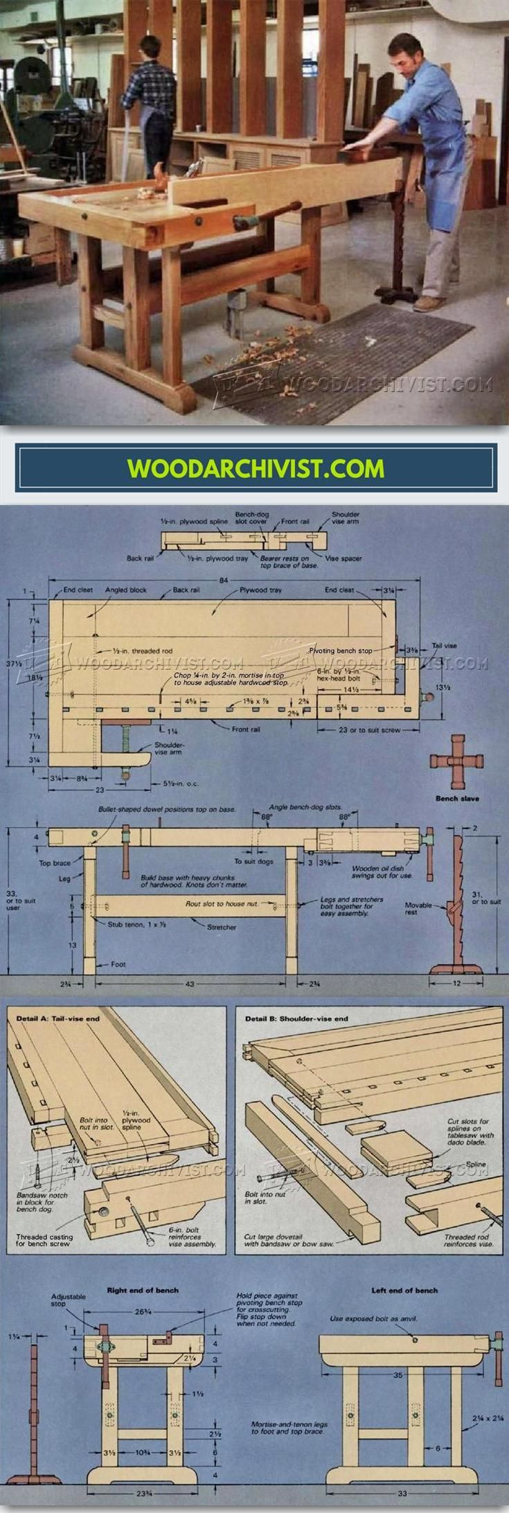 Classic Workbench Plans - Workshop Solutions Projects, Tips and Tricks   WoodArchivist.com