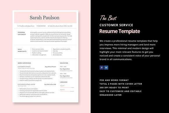 Customer Service Resume Template #customerserviceresume #callcenterresume
