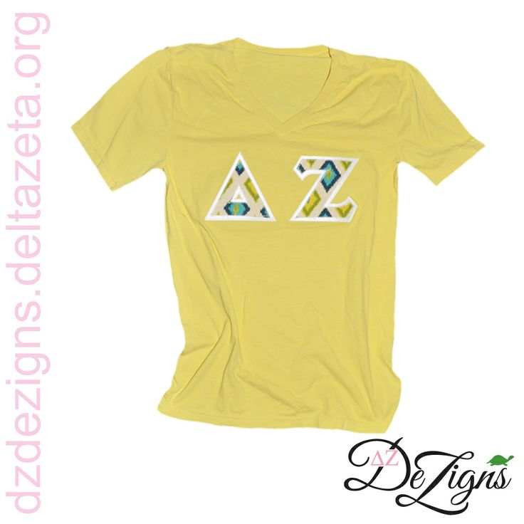 New sewn on letters at dz dezigns delta zeta tribal sewn for Sorority sewn on letters