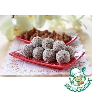 Фруктово-кокосовые конфеты и печенье