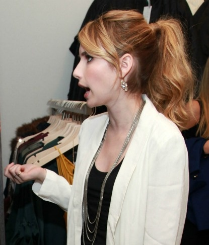 Emma Roberts cuteness.  use pins on top section to give height on top