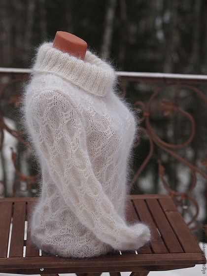 """свитер """"Сказочный"""" - белый,свитер женски,женский свитер,шерсть,чистая шерсть"""