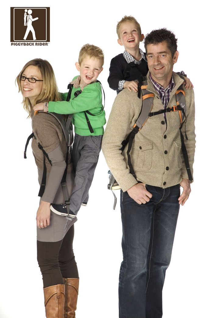THE PIGGYBACK RIDER:  a mutually enjoyable, effortless way to carry toddlers at your back. This backpack distributes the child's weight at your core, while they stand firmly on the tempered aluminum bar supported by the shoulder carrier.  Children love the height advantage, rest, quality time and longer adventures, while you walk with a natural upright posture.