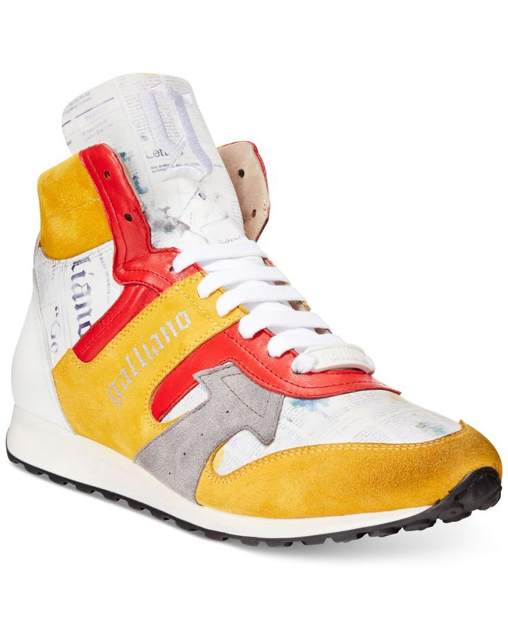 John Galliano Wedge Multicolor High-Top Sneakers