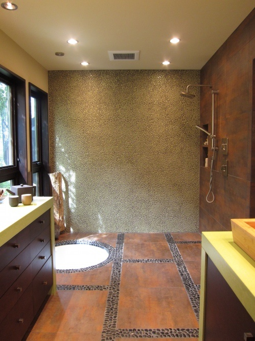 112 best images about walk in shower sunken tub on for Soaking tub in master bedroom